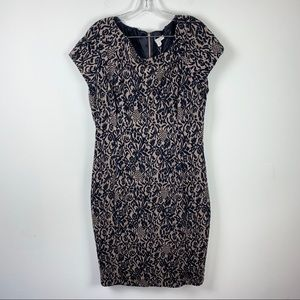 Eva Mendes Jacquard Flora Sheath Dress size 16